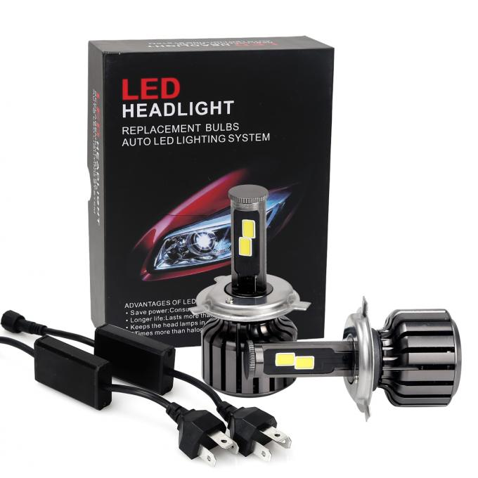H4 Car LED Headlights Kit With Mini LED Driver Wire High / Low Beam